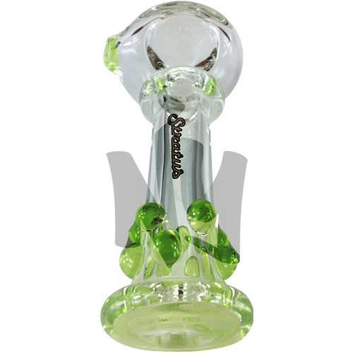 Sleek Glass Pipe with Large Bowl Piece