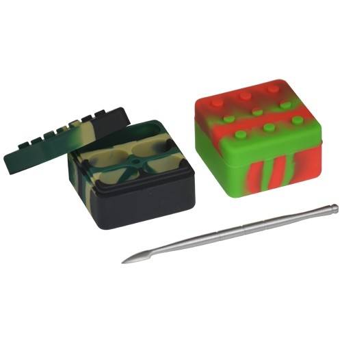 Lego Dab Container & Wax Dabber Tool