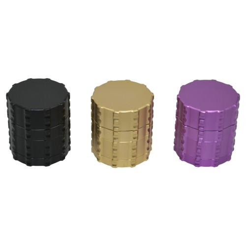 Metal Grip 4 piece Herb Grinder