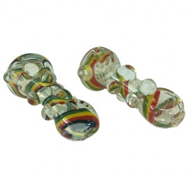 Rasta Pipes with Chameleon Glass