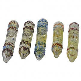 Spiral Colored Glass Steamroller Pipes