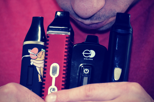 guy-smelling-dry-herb-vaporizers