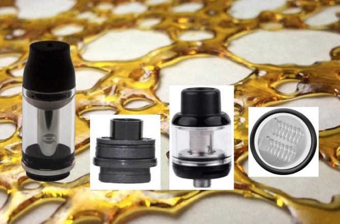 atomizers for wax, oils, herbs