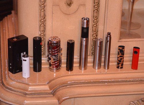 batteries-and-box-mods-on-counter