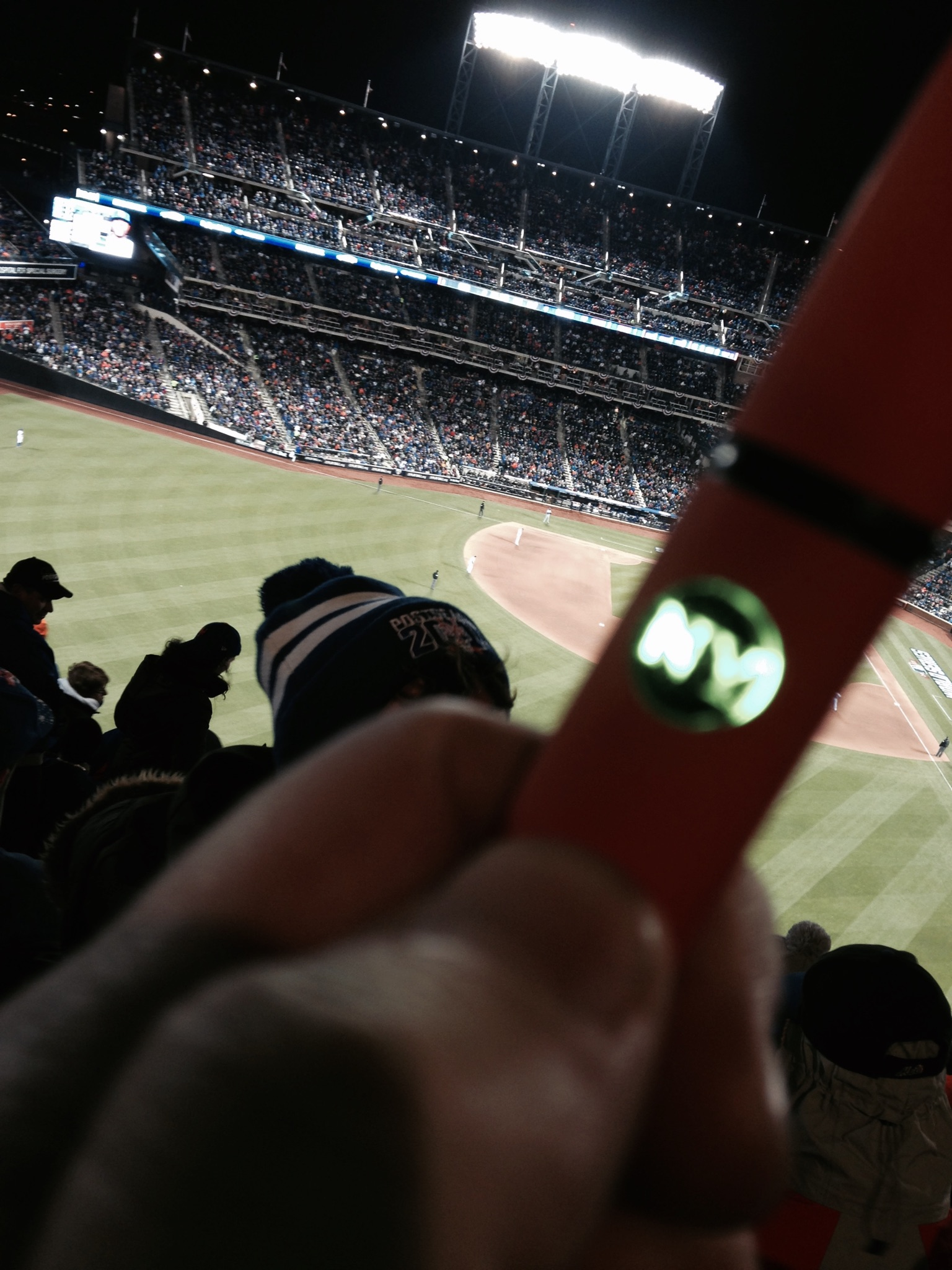vaping at a baseball game