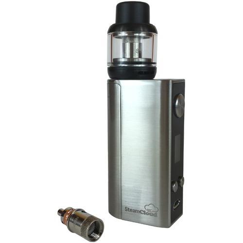 SteamCloud box mod with 510 thread atomizer