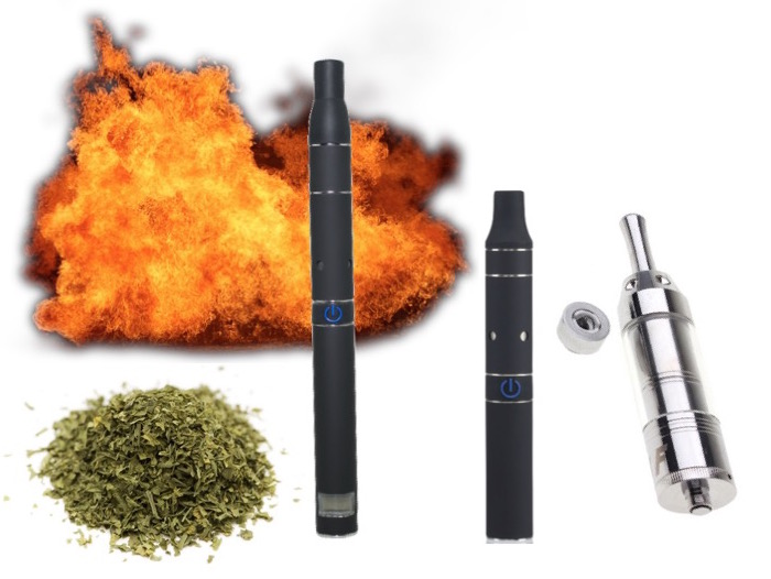dry herbs and combustion vape pens