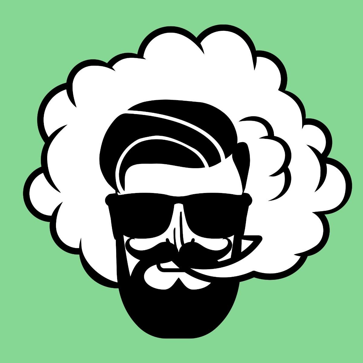 green animated man smoking a desktop vaporizer