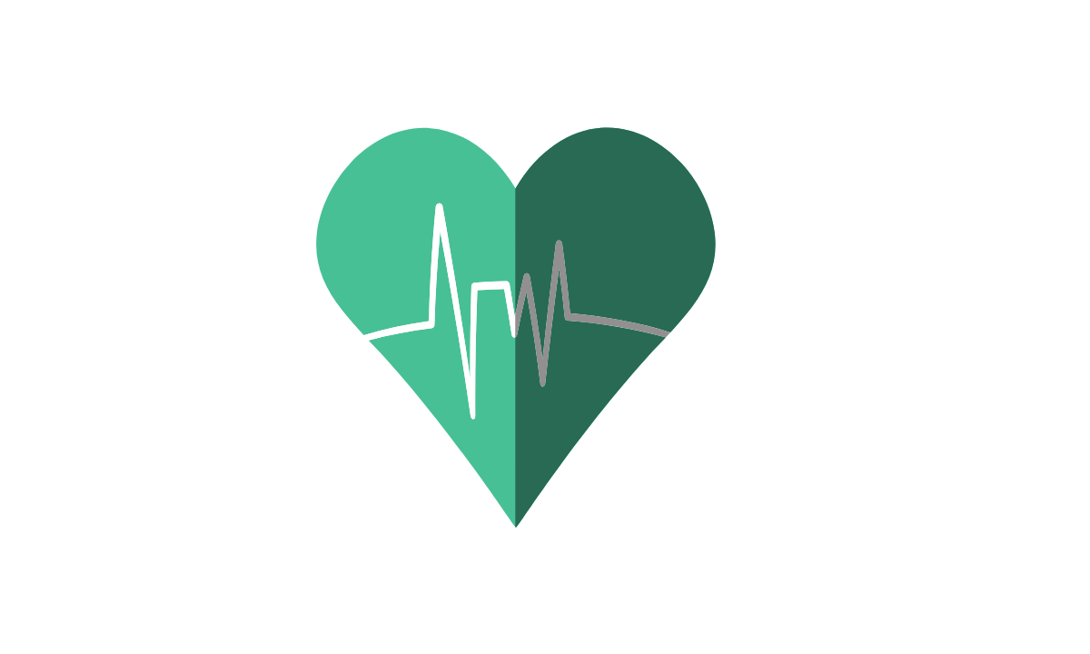Green heart to show love
