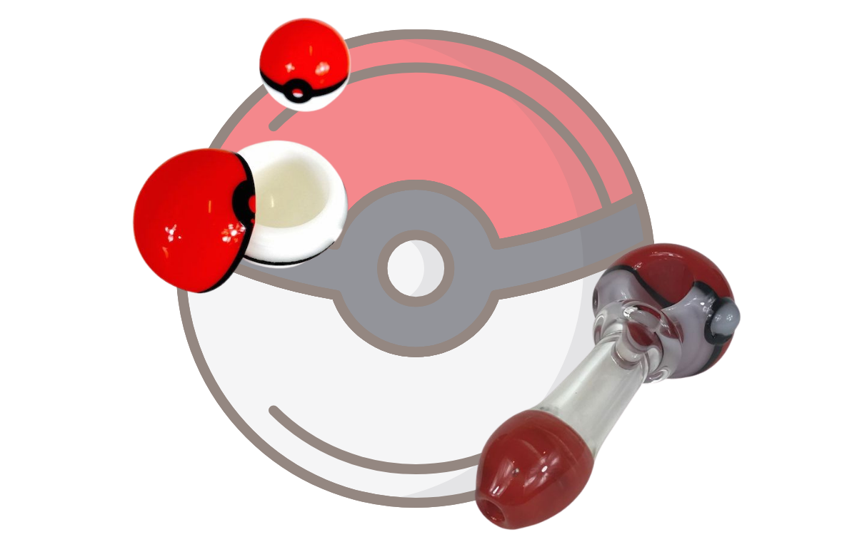 Pokemone background with a pokemon bowl and a pokemon tool